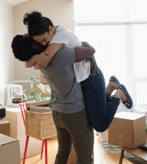 moving-couple-happy
